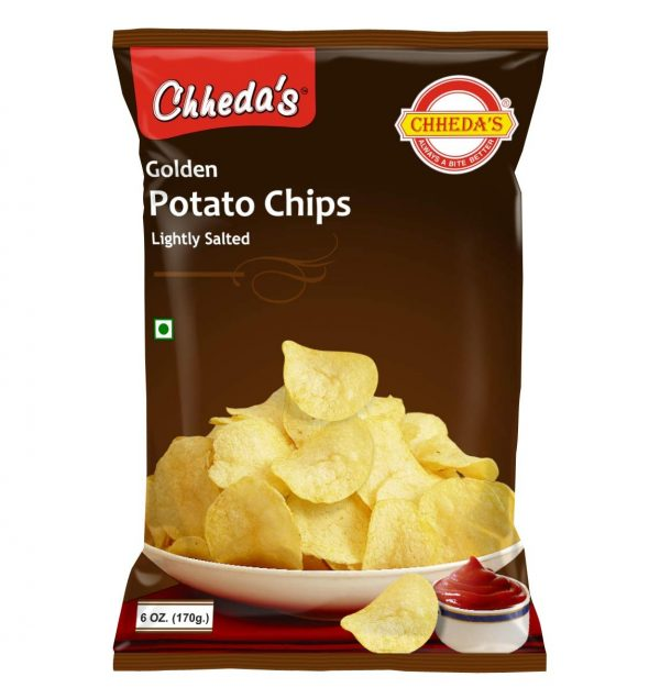 Chheda's Golden Potato Chips - Crispy Potato Chips