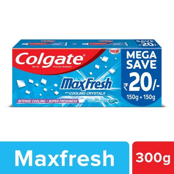 Colgate Max Fresh Blue Gel Toothpaste for super freshness - 300gm