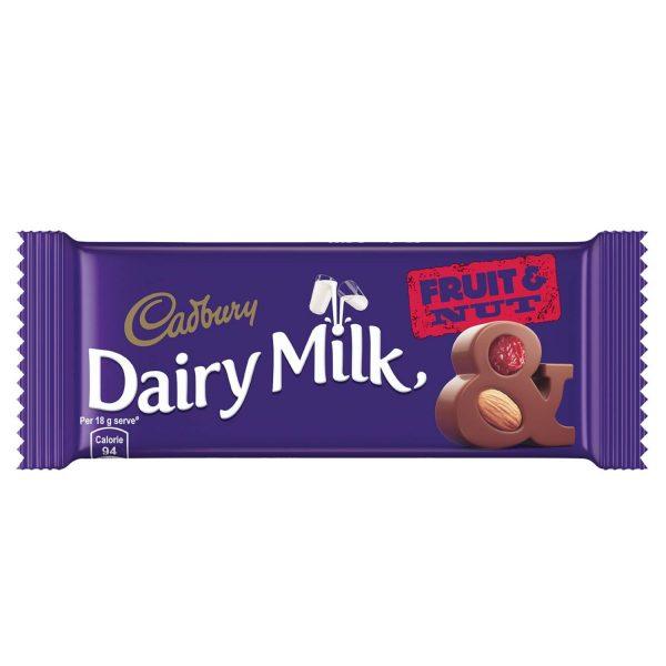 Cadbury Dairy Milk Fruit and Nut Chocolate Bar, 36g