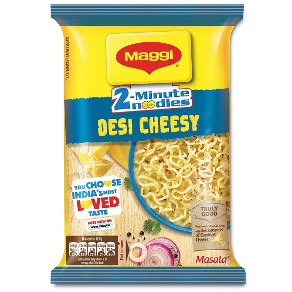 MAGGI 2-Minute Instant Noodles, Desi Cheesy Masala - 60.5g