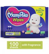 MamyPoko Wipes with Green Tea Essence – Pack of 100 Wipes