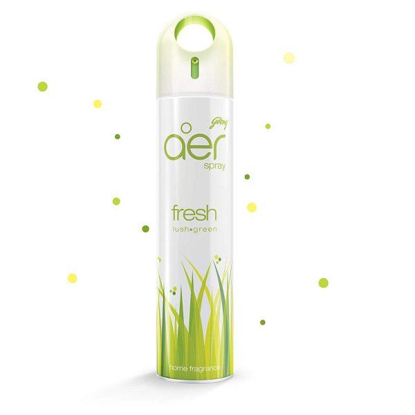 Godrej aer Spray, Home and Office Air Freshener - Fresh Lush Green (240 ml)