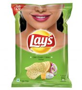 Lays American Style Potato Chips – Cream & Onion, 52g