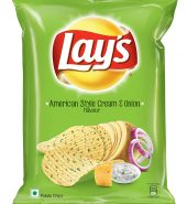 Lays Potato Chips, American Style Cream and Onion, 167g