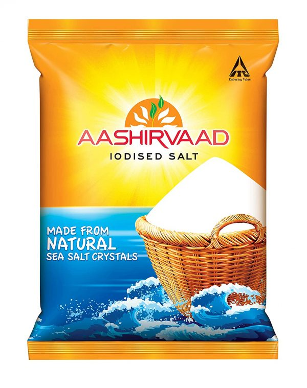 Aashirvaad Salt - Iodised, 1kg Bag