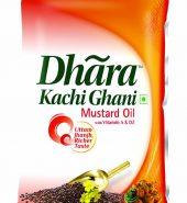 Dhara Kachhi Ghani Mustard Oil, 1L Pouch