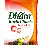 Dhara Kachi Ghani Mustard Oil, 1L Pouch