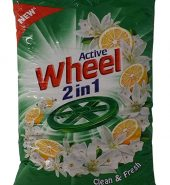 Wheel Active 2 in 1 Detergent Powder – Clean and Fresh (Green), 1kg Pouch